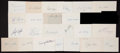 Baseball Collectibles:Others, Baseball Legends Signed Index Cards Lot of 24. ...