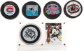 Hockey Collectibles:Others, Hockey Greats Signed Pucks Lot of 5. ...