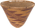 American Indian Art:Baskets, A POMO TWINED BURDEN BASKET. c. 1890...