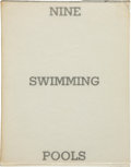 Books:First Editions, Edward Ruscha. Nine Swimming Pools and a Broken Glass.[N.p.]: Edward Ruscha, 1968. First edition. Twelvemo. Unpagin...