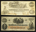 Confederate Notes:Group Lots, T39 $100 1862.. T41 $100 1862.. ... (Total: 2 notes)