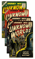 Golden Age (1938-1955):Horror, Journey Into Unknown Worlds Group (Atlas, 1955-56).... (Total: 4Comic Books)