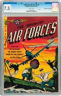 The American Air Forces #7 Mile High pedigree (Magazine Enterprises, 1952) CGC VF- 7.5 White pages