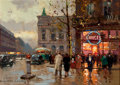 Paintings, PROPERTY FROM A HOUSTON ESTATE. EDOUARD-LÉON CORTÈS (French, 1882-1969). The Opera. Oil on canvas. 13 x 18 inches (33....