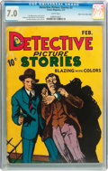 Platinum Age (1897-1937):Miscellaneous, Detective Picture Stories #3 Mile High pedigree (Comics Magazine,1937) CGC FN/VF 7.0 White pages....