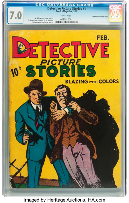 Detective Picture Stories #3 Mile High pedigree (Comics Magazine, 1937) CGC FN/VF 7.0 White pages....