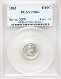 Proof Seated Half Dimes: , 1863 H10C PR62 PCGS. PCGS Population (24/161). NGC Census:(12/134). Mintage: 460. Numismedia Wsl. Price for problem free N...