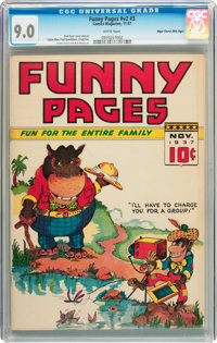 Funny Pages V2#3 Mile High pedigree (Comics Magazine, 1937) CGC VF/NM 9.0 White pages