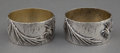 Silver Holloware, American:Napkin Rings, A PAIR OF SHIEBLER SILVER NAPKIN RINGS . George W. Shiebler &Co., New York, New York, circa 1880 . Marks: (winged S) STER...(Total: 2 Items)