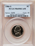 Proof Jefferson Nickels: , 1986-S 5C PR69 Deep Cameo PCGS. PCGS Population (3295/9). NGCCensus: (291/7). Numismedia Wsl. Price for problem free NGC/...
