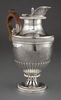 Silver & Vertu:Hollowware, A PAUL STORR GEORGE III SILVER HOT WATER JUG . Paul Storr, London, England, circa 1813-1814. Marks: (lion passant), (leopard...