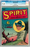 Golden Age (1938-1955):Crime, The Spirit #nn (#2) Mile High pedigree (Quality, 1945) CGC FN/VF 7.0 White pages....