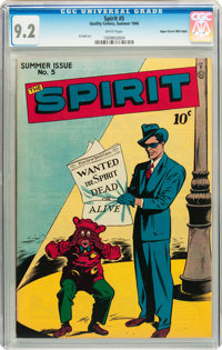 The Spirit #5 Mile High pedigree (Quality, 1946) CGC NM- 9.2 White pages