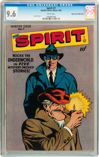 The Spirit #7 Mile High pedigree (Quality, 1946) CGC NM+ 9.6 White pages