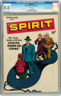 Golden Age (1938-1955):Superhero, The Spirit #8 Mile High pedigree (Quality, 1947) CGC VF 8.0 White pages....