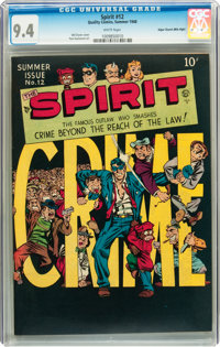 The Spirit #12 Mile High pedigree (Quality, 1948) CGC NM 9.4 White pages