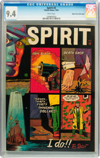 The Spirit #2 Mile High pedigree (Fiction House, 1952) CGC NM 9.4 White pages