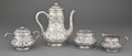 Silver Holloware, American:Tea Pots, A WHITING FOUR-PIECE SILVER AND SILVER GILT TEA SERVICE . WhitingManufacturing Company, New York, New York, circa 1880. Mar...(Total: 5 Items)