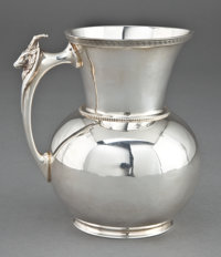 A GORHAM COIN SILVER PITCHER Gorham Manufacturing Co., Providence, Rhode Island, circa 1855 Marks: (lion-ancho