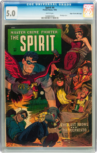 The Spirit #4 Mile High pedigree (Fiction House, 1953) CGC VG/FN 5.0 White pages