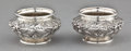 Silver Holloware, American:Open Salts, A PAIR OF KIRK SILVER REPOUSSÉ SALTS . S. Kirk & Son Inc.,Baltimore, Maryland, circa 1896. Marks: S. KIRK & SON CO.,925 ... (Total: 2 Items)