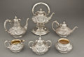 Silver Holloware, American:Tea Pots, A GORHAM SIX-PIECE SILVER AND SILVER GILT TEA AND COFFEE SERVICE .Gorham Manufacturing Co., Providence, Rhode Island, circa...(Total: 7 Items)