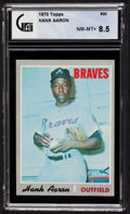 Baseball Cards:Singles (1970-Now), 1970 Topps Hank Aaron #500 GAI NM-MT+ 8.5....