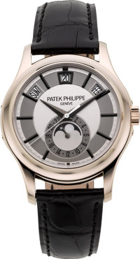 Patek Philippe Very Fine & Rare Ref. 5205 Center-Seconds 18k White Gold Annual Calendar Center Seconds Self-Wind...
