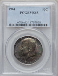 Kennedy Half Dollars: , 1964 50C MS65 PCGS. PCGS Population (1302/938). NGC Census:(593/1238). Mintage: 273,300,000. Numismedia Wsl. Price for pro...