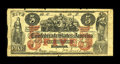 Confederate Notes:1861 Issues, CT31/245B Counterfeit $5 1861. This woodcut counterfeit is based on Samuel Upham's first facsimile. Besides the crudeness of...