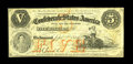 Confederate Notes:1861 Issues, T32 $5 1861. An elusive Confederate issue with this example having even wear and healthy edges. The overprint is also nice f...