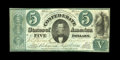 """Confederate Notes:1861 Issues, T33 $5 1861. Listed as PF-7 State II, whereby the """"Va"""" was missing from the engraver's name. This example is a rarity-5 and ..."""