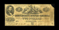 Confederate Notes:1861 Issues, T38 $2 1861. This Very Good example displays the typical pinholes and edge tears for the grade, however, is missing the ...