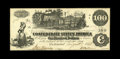 Confederate Notes:1862 Issues, T39 $100 1862. Confederate agent Henry Savage's interest stampproduces embossing on this Crisp Uncirculated $100 with a...