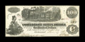 "Confederate Notes:1862 Issues, T39 $100 1862. This missing frameline at lower right keeps thisCrisp Uncirculated ""Straight Steam"" example from a highe..."