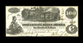 Confederate Notes:1862 Issues, T39 $100 1862. It appears that someone double-stamped the 1864Interest Paid at Savannah stamp on the back of this fully fra...