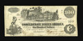 Confederate Notes:1862 Issues, T39 $100 1862. This variety shows no clouds above the ship in thecentral vignette. The paper is beautifully original, thoug...