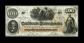 Confederate Notes:1862 Issues, T41 $100 1862. Here is a note that will be submitted to athird-party grading service (gasp!). Full margins encompass thef...