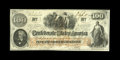 Confederate Notes:1862 Issues, T41 $100 1862. This embossed Scroll 1 note is fully framed with redand blue stampings on the back from Montgomery and Macon...