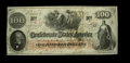 Confederate Notes:1862 Issues, T41 $100 1862. This Crisp Uncirculated example was issued atMontgomery January 10, 1863, and also carries an 1865 Inter...