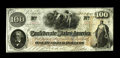 Confederate Notes:1862 Issues, T41 $100 1862. A lone pinhole is noted in this otherwise attractiveand pleasingly original note. Crisp Unciruclated....