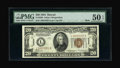Small Size:World War II Emergency Notes, Fr. 2304 $20 1934 Hawaii Mule Federal Reserve Note. PMG About Uncirculated 50 EPQ.. ...