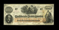 Confederate Notes:1862 Issues, T41 PF-22 Cr-320A $100 1862. Light handling affects this Scroll 2Choice About Uncirculated example, which is just a tin...