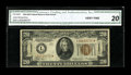 Small Size:World War II Emergency Notes, Fr. 2304* $20 1934 Hawaii Federal Reserve Note. CGA Very Fine 20.....