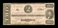 Confederate Notes:1862 Issues, T54 PF-6 $2 1862. Just a light corner fold keeps this from CU. Apinhole is also noted. Choice About Uncirculated.. Fr...