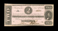 Confederate Notes:1862 Issues, T54 $2 1862. A full frame line is noticed on this AboutUncirculated example....