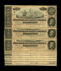 Confederate Notes:1864 Issues, T67 $20 1864. Nine Consecutive Examples. This lot is the first of four having runs of consecutive serial numbers. All nine o... (Total: 9 notes)