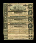 Confederate Notes:1864 Issues, T67 $20 1864 Ten Consecutive Examples. This group are all Series 3, grading Crisp Uncirculated, with one note having a s... (Total: 10 notes)