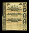 Confederate Notes:1864 Issues, T67 $20 1864 Ten Consecutive Examples. This lot contains all Series 3 notes, with four of the notes having a partial CSA Tre... (Total: 10 notes)