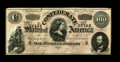 Confederate Notes:Group Lots, Short set of 1864 Issues.. T-65 Choice AU,. T-66 CU, with a partialCSA Treasury stamp at upper left,. T-67 Choice... (Total: 5 notes)